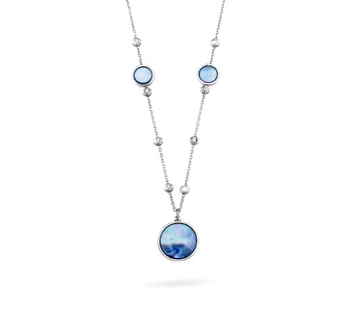 Aurora Necklace with Blue Mother Of Pearl
